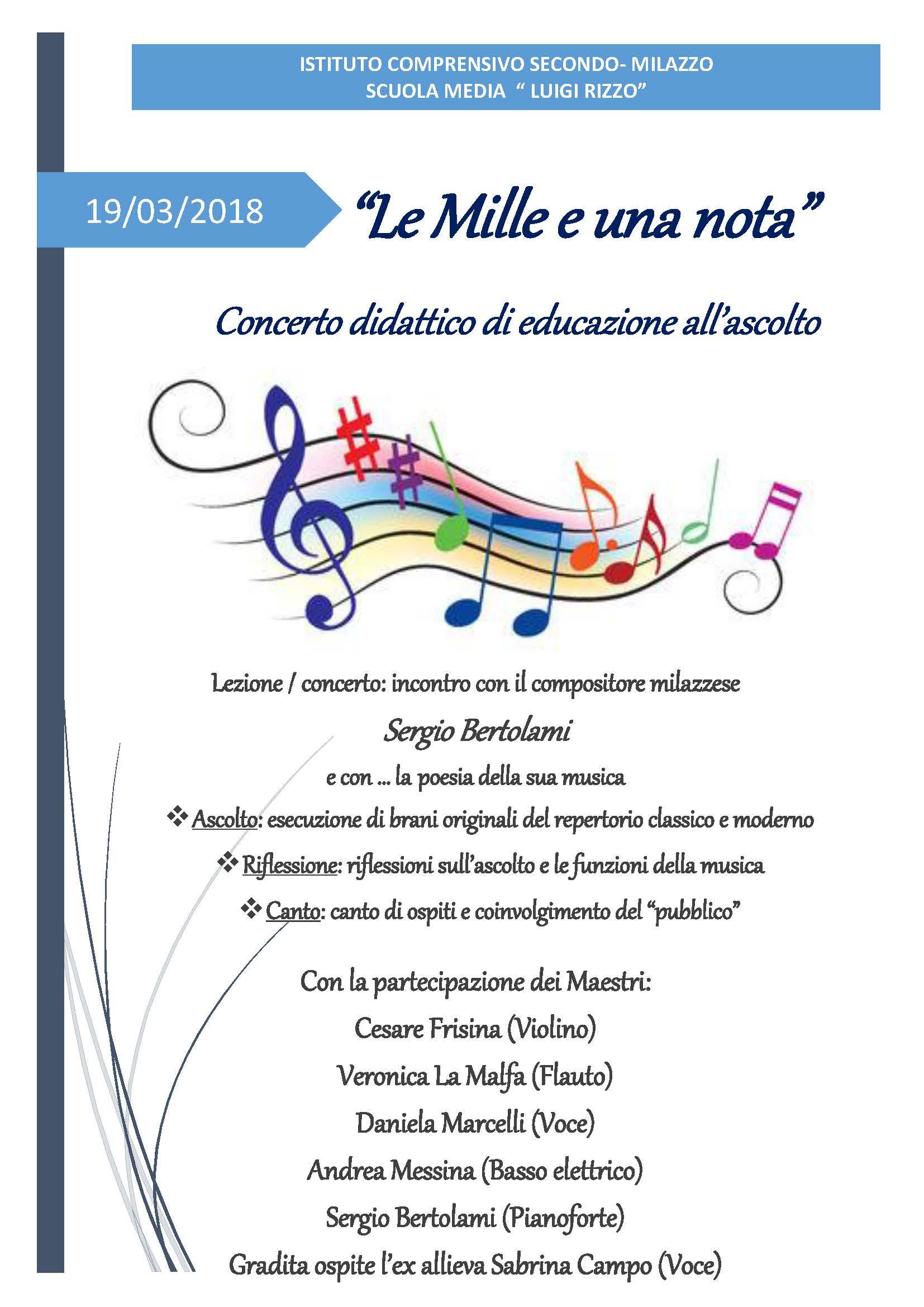 """Concerto didattico """"le mille e una nota"""""""